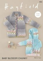 Hayfield Baby Blossom Chunky - 4832 Jacket Knitting Pattern